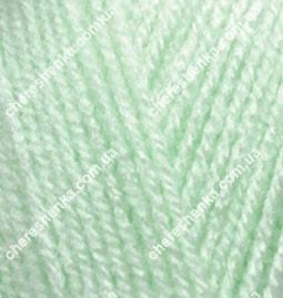 Нитки Alize Sekerim Bebe 188 бледно зеленый, фото 2