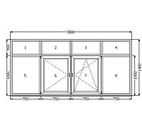 Балконная рама белая WDS