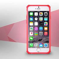 TOTU Rainbow Sereies TPU+PC Hybrid Bumper Frame for iPhone 6 6S 4.7 Inch Pink