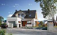MS124. Проект классического дома с мансардным этажом, фото 1