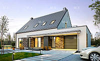 MS125. Уютный дом с большой мансардой и гаражом, фото 1