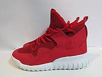 Мужские кроссовки Adidas красные высокие (346) код 954А