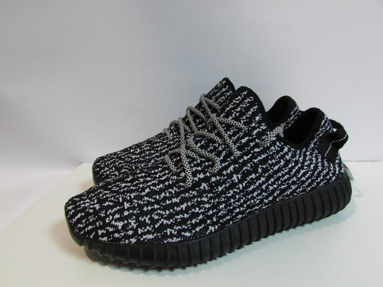 d59a09523f12 Мужские кроссовки Adidas YEEZY черно-белые (888) код 958А  продажа ...