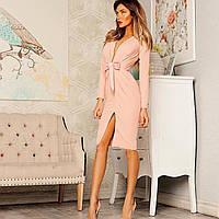 Платье женское длинное с вырезом P853