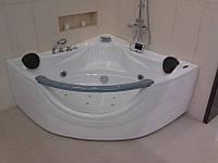 Ванна угловая с гидро-аэромассажем Appollo АТ-2121 1520*1520*710 мм, с окошком