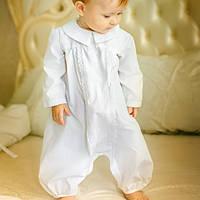 Песочник и шапочка для крещения малыша Крестильный от  Battesimo от 12 до 18 месяцев.