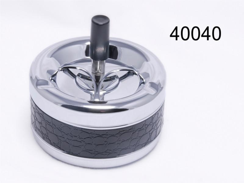 Пепельница 40040 (49014) металл/хром/крокоимитация, д=11 см