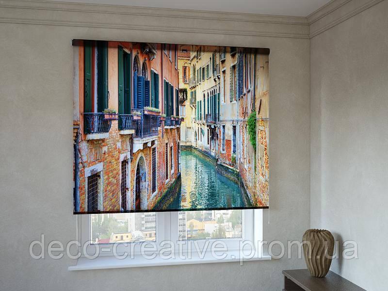 Рулонные шторы с фотопечатью город на воде Венеция