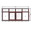 Балконная рама ламинация профиль  WDS