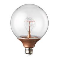 """IKEA """"NITTIO"""" Лампочка LED E 27, медный, шар"""