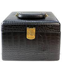 YRE Cosmetic Organizer - Кейс-контейнер для косметики KS-046 черный, кожа
