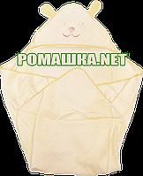 Детское махровое уголок-полотенце после купания, 90х90 см, Турция