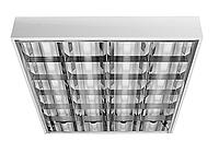 Корпус светильника накладного ЛПО 600 х 600 мм для светодиодных LED ламп, с зеркальной решеткой