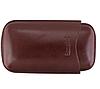 """Футляр 32231 для 3 сигар """"Formula"""", коричневый, экокожа, 14х2 см"""