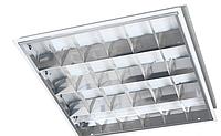 Корпус светильника встраиваемого ЛВО 595 х 595 мм для светодиодных LED ламп, с зеркальной решеткой