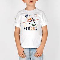 Итальянская футболка для мальчика с Литачками мал. белый 100 % хлопок 141BFFN010 BRUMS, Италия
