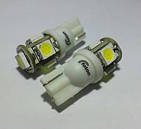 T10 (W5W), белого цвета свечения (5500К) 5pcs 5050 (Foton)