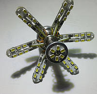 Одноконтактная безцокольная Led лампа 7440 (Т20) (W21W)-60SMD-R