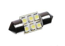 Світлодіодна софитная автолампи T10, 31mm, 6pcs 3528 (36Lm)
