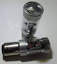 Светодиодная автолампа 1157 - P21/5W - BAY15d, 30W RED (500Lm) + Линза CREE LED двухконтактная красная