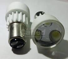 Світлодіодна автолампи 1157 - P21/5W - BAY15d, 3PCS 3W WHITE(200Lm) ceramic lamp двухконтактная