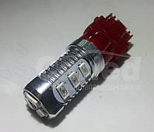 Светодиодная автолампа W27/7W - T25 - 3157 - W3х16q, 12 5630SMD (300Lm) RED двухконтактная