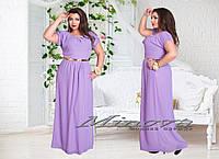 Платье длинное большого размера 50-56
