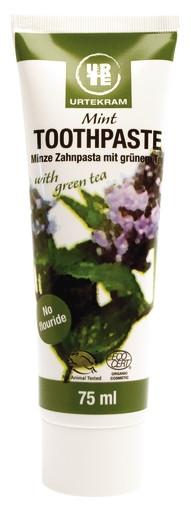 Зубная паста Зеленый чай и Мята, Urtekram