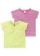 Детские футболки для девочки (набор 2 шт) 12-18, 18-23 месяца , фото 1