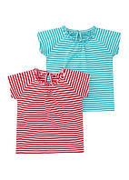 Детские футболки для девочки (набор 2 шт) 12-18, 18-23 месяца
