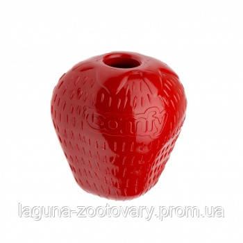 """Игрушка - кормушка для собак  """"Клубника"""", резина, 7,5х6,5см"""