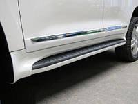 Пороги пластиковые Toyota Land Cruiser FJ200 Lexus дизайн