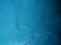 Кожа натуральная КРС Лак с тиснением Змея, голубой цвет