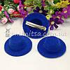 Основа для заколки - шляпка 5,5 см, синий
