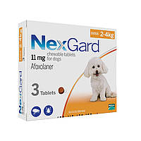 Нексгард (NexGard S) таблетки от блох и клещей для собак 2 - 4 кг.