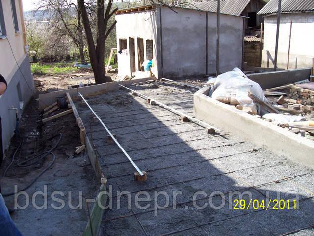 Бетонирование двора в Днепропетровске
