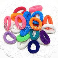 Резинки для волос махровые Калуш, цветные, 3 см