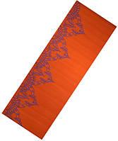 LiveUp Коврик для йоги LiveUp PVC YOGA MAT WITH PRINT (оранжевый)