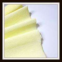 Гофрированная бумага 50*250 см Бледно-Желтая