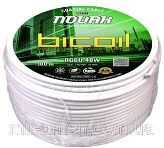 BiCoil кабель коаксиальный RG6U 48W NOVAK CCS