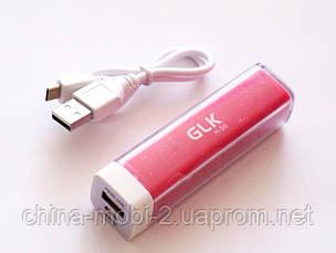 Универсальная  батарея  ( mobile power bank) 2600 mAh, GLK-H55, red, фото 3