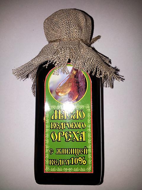 Масло Кедрового ореха с живицей 10%, 100 мл.