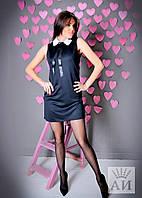 А1216 Платье мини с воротником