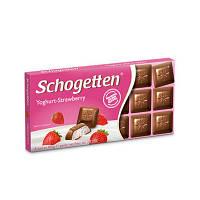 Шоколад молочный Schogеtten Yoghurt-Strawberry 100г Шогеттен клубничный 100г