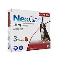 Нексгард (NexGard XL) таблетки от блох и клещей для собак 25 -50 кг.
