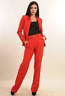 Стильный костюм-двойка, пиджак прямого силуэта с воротником-стойкой, брюки со стрелкой, 42-52 размер