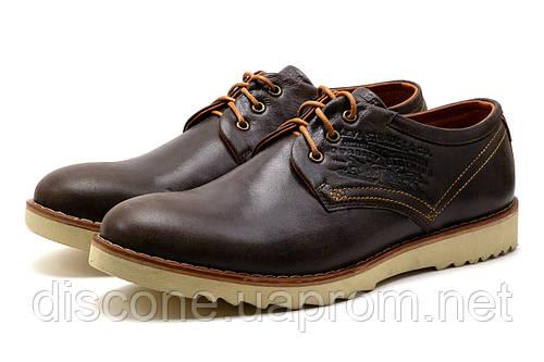 Туфли мужские спортивные Levi's Desert, натуральная кожа, коричневые, р. 45
