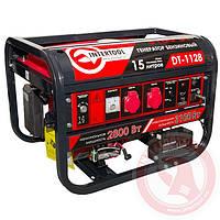 Генератор бензиновый макс мощн 3,1 кВт 4-х тактный, электрический и ручной пуск INTERTOOL DT-1128
