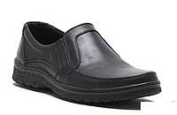 Мужские кожаные туфли на резинке 004 ч