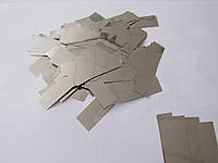 Конфетти: Метафан металлизированный серебряный блестящий с двух сторон